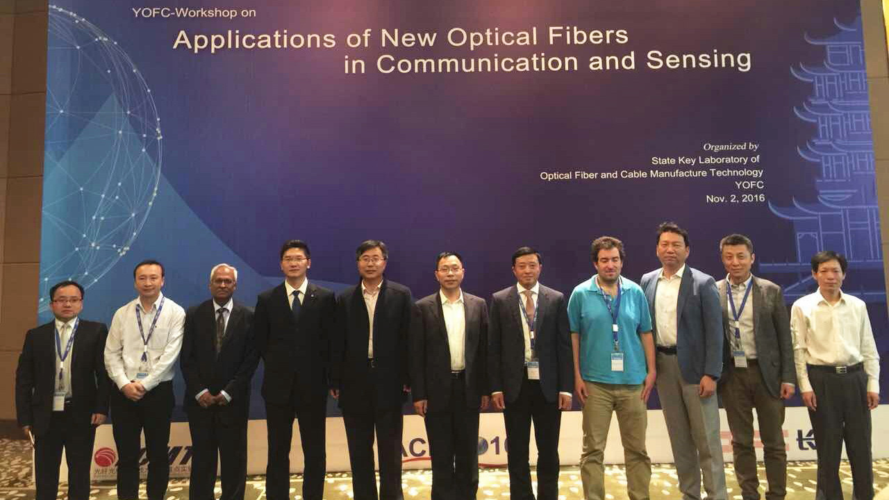 YOFC State Key Laboratory of Optical Fiber and Cable Manufacturing Technology Cooperated for grand ACP2016 and its research achievements lead global peers